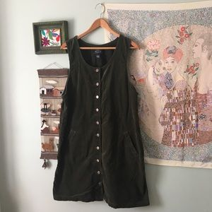 Vintage Corduroy Button Dress